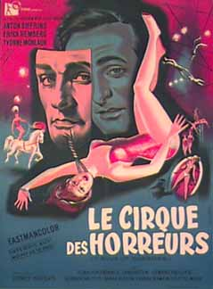 CIRCUS OF HORRORS French poster artwork