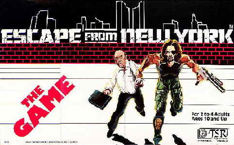 ESCAPE FROM NEW YORK board game with Donald Pleasence and Kurt Russell artwork