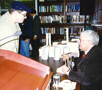 Christopher Weedman and Roger Ebert in 1997
