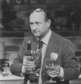 Donald Pleasence preparing 'Sole Bon Femme' on CELEBRITY COOKS