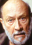 Donald Pleasence as Davies in the 1991 revival of THE CARETAKER
