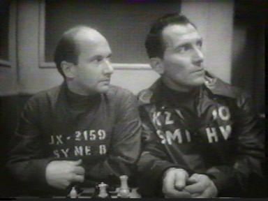 Pleasence and Cushing worry that their conversation will be heard by Big Brother